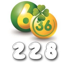 Лотерея «6 из 36» - Тираж №228