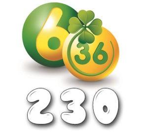 Лотерея «6 из 36» - Тираж №230