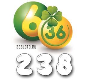 Лотерея 6 из 36 тираж 238